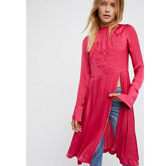 Free People Tops - Free People New Day Floral- Embroidered Tunic